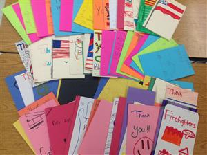 Cards to JCPD and Firefighters