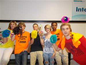 """Character Plus Education students created puppets called """"Kind Word Birds""""."""