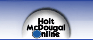 Link to Holt McDougal Online