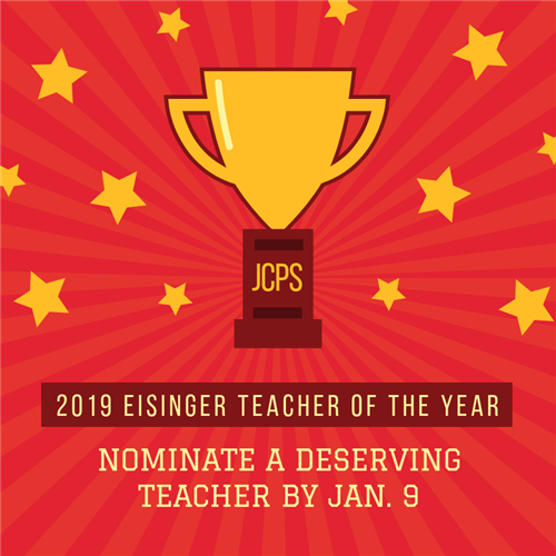 2019 Eisinger Teacher of the Year Award nominations