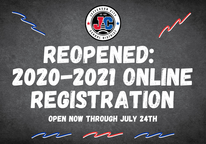 ONLINE REGISTRATION NOW REOPENED THRU 7/24
