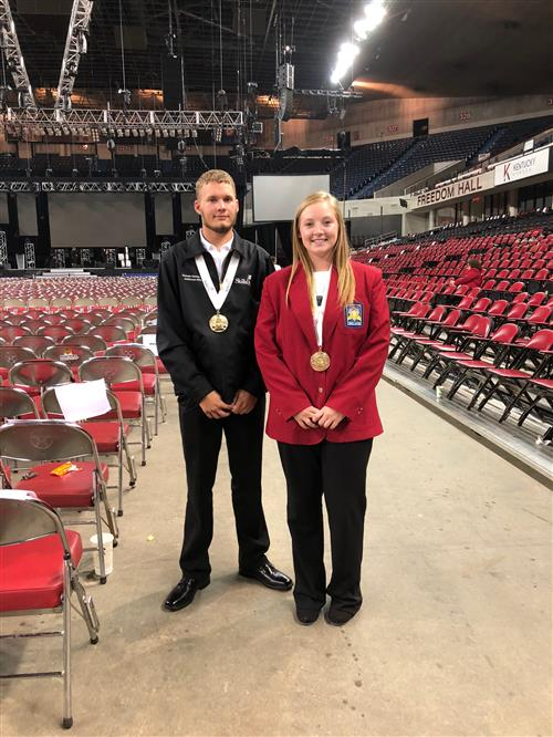 Nicholas Ruff and Makayla Buscher SkillsUSA National Gold Medalists